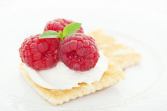 Raspberry Cream Cheese Appetizer Royalty Free Stock Photo