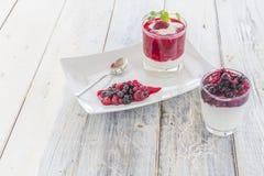 Raspberry Cream Royalty Free Stock Photography