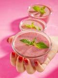 Raspberry cream Stock Photo