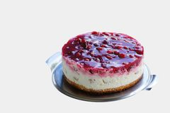 Raspberry cream pie Royalty Free Stock Photo