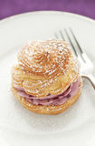 Raspberry Cream Puff Royalty Free Stock Photos