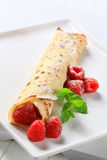 Raspberry crepe Stock Photo