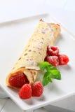 Raspberry crepe Stock Photo