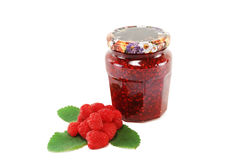 Raspberry with crimson jam Royalty Free Stock Images