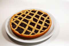 Raspberry Crostata - Italian tart Royalty Free Stock Photo