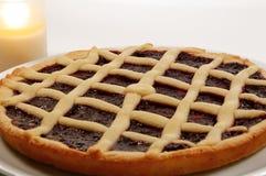 Raspberry Crostata - Italian tart Stock Images