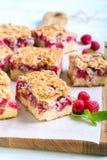 Raspberry crumble cake Royalty Free Stock Photography