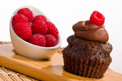 Raspberry Cupcake Royalty Free Stock Photography