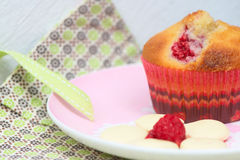 Raspberry Cupcake Royalty Free Stock Image