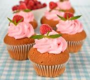 Raspberry cupcakes Royalty Free Stock Image