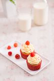 Raspberry cupcakes Royalty Free Stock Images