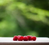 Raspberry on the desk Royalty Free Stock Photos