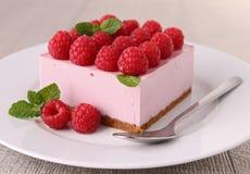 Raspberry dessert. Plate of fresh gourmet raspberry dessert Royalty Free Stock Photography