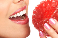 Raspberry diet Royalty Free Stock Image