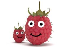 Raspberry with face Royalty Free Stock Photos