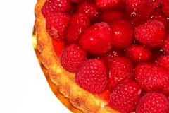 Raspberry Flan Stock Photography
