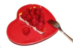 Raspberry Flan Stock Image