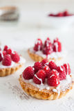 Raspberry frangipane Stock Photo