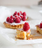 Raspberry frangipane Royalty Free Stock Image