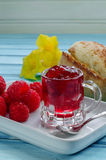 Raspberry fresh and jam Royalty Free Stock Photo
