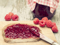 Raspberry Fruit Jam Royalty Free Stock Photography