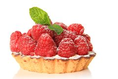 Raspberry fruit tart Royalty Free Stock Photography