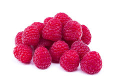 Raspberry fruit. With white background Royalty Free Stock Photography