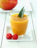 Raspberry, fruity mango smoothie made from ripe fruit Stock Photos