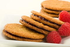 Raspberry ginger snaps Stock Image