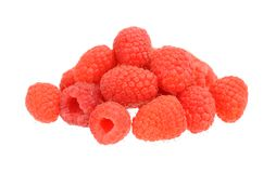 Raspberry. A group of raspberry on white Royalty Free Stock Image
