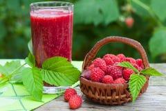 Raspberry healthy smoothie drink Stock Photo