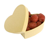 Raspberry heart royalty free stock photography