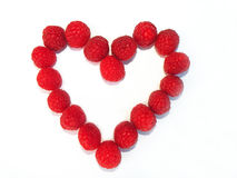 Raspberry Heart Stock Images