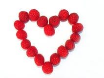 Raspberry Heart Stock Images