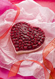 Raspberry heart cake Royalty Free Stock Image