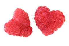 Raspberry hearts Royalty Free Stock Photography
