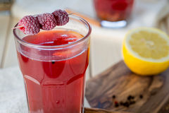 Raspberry Hot Tea with Cinnamon, Coriander, Lemon and Honey, Delicious and Healthy Royalty Free Stock Photo