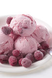 Raspberry Ice Cream Stock Images