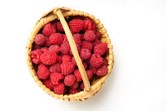 Raspberry In Basket Royalty Free Stock Image