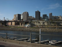Raspberry Island in downtown St Paul Stock Image