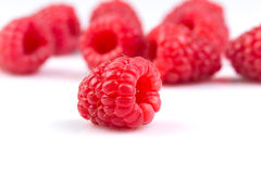 Raspberry isolated on white background. Fresh raspberry isolated on a white background Stock Photos