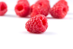 Raspberry isolated on white background Royalty Free Stock Photos