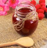 Raspberry jam Stock Image