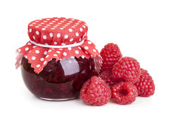 Raspberry jam Royalty Free Stock Photos