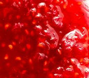 Raspberry jam as background. Photo of an abstract texture Royalty Free Stock Images
