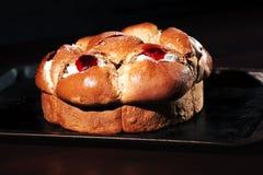 Raspberry jam and cream pastry Royalty Free Stock Image