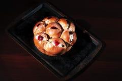 Raspberry jam and cream pastry Royalty Free Stock Photos
