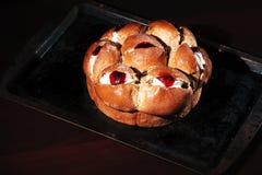 Raspberry jam and cream pastry Stock Image