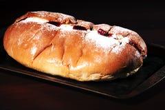 Raspberry jam and cream pastry Stock Photo