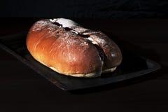Raspberry jam and cream pastry Stock Photography